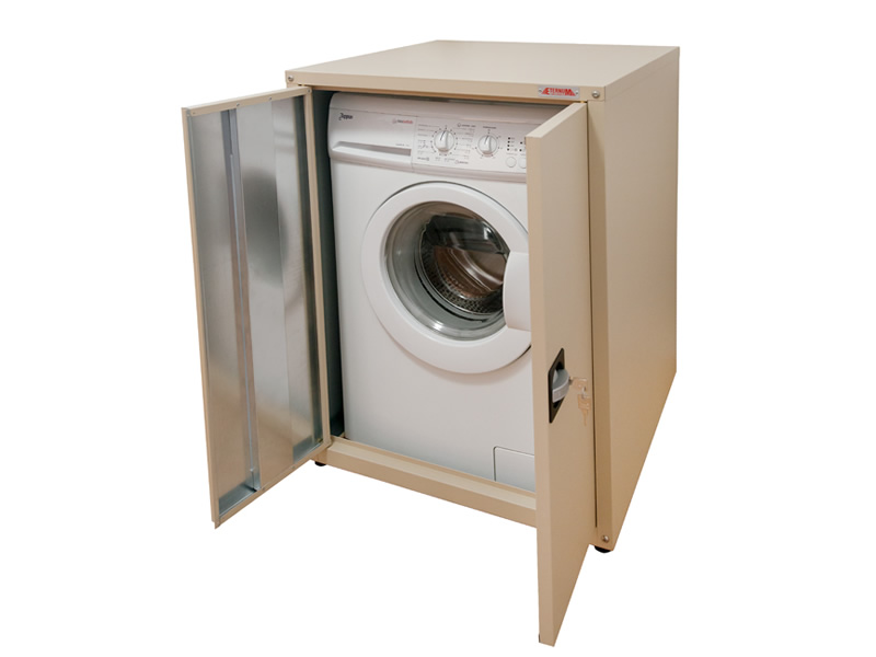Rustproof washing machine housing with door copriradiator for Kitchen cabinet washing machine